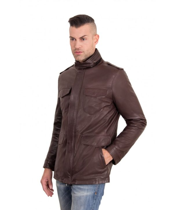 best-dark-brown-color-nappa-lamb-leather-jacket-4-pockets (1)