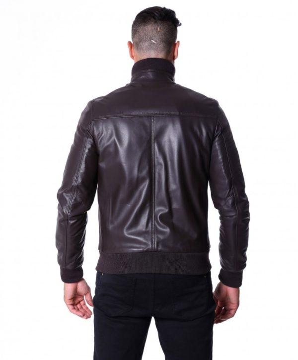 Brown Nappa Lamb leather Jacket