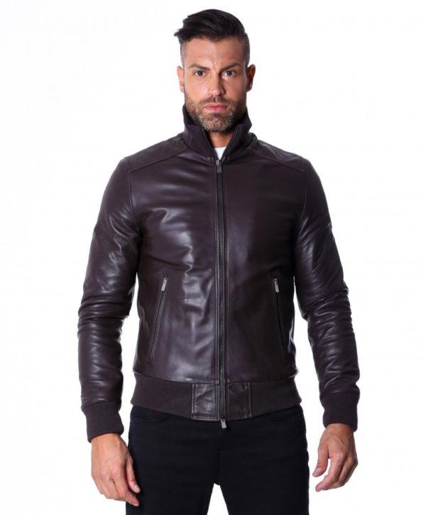 Black Nappa Lamb Leather Jacket