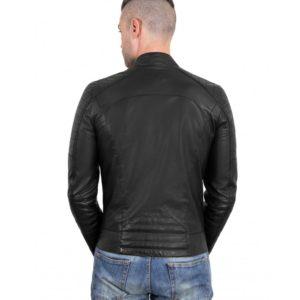 Black Color - Nappa Lamb Leather Biker Perfecto Jacket Smooth Effect