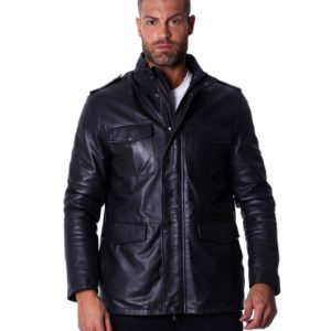 BLACK LAMB LEATHER JACKET