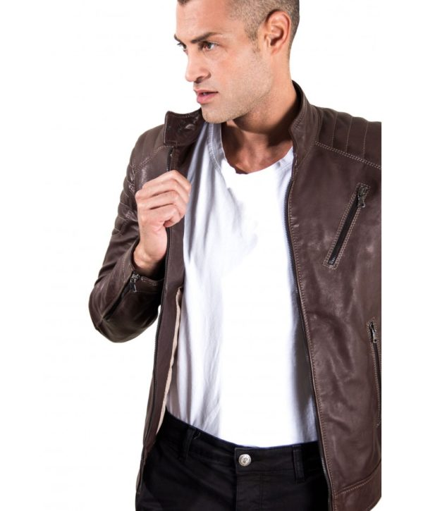 men-s-leather-jacket-genuine-soft-leather-biker-quilted-yoke-dark-brown-color-u411 (2)