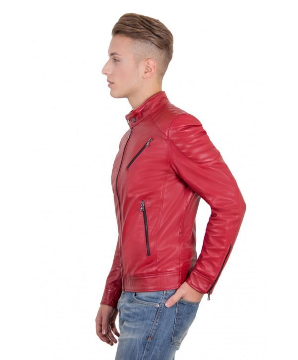 men-s-leather-jacket-genuine-soft-leather-biker-quilted-yoke-red-color-u411 (3)