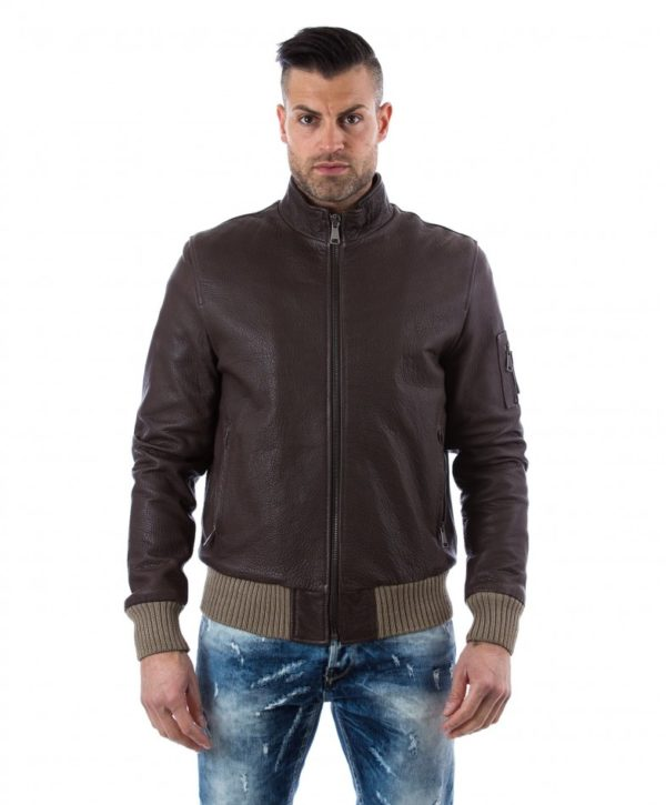 Brown Calf Leather Jacket
