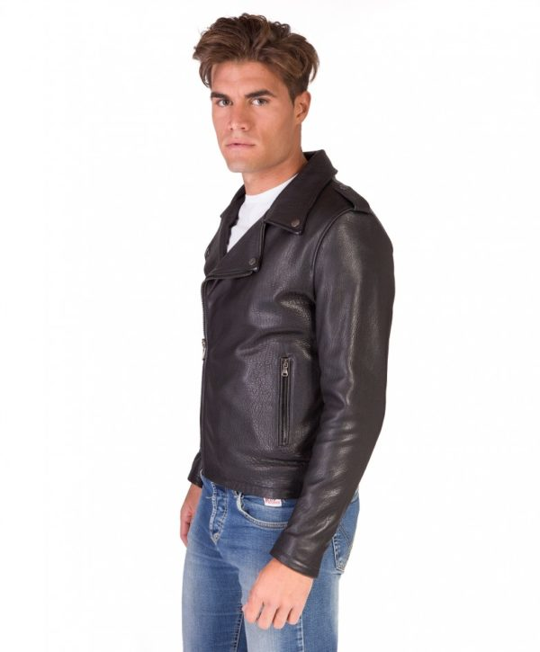 Black Perfecto Wizened Lamb Leather Biker Jacket