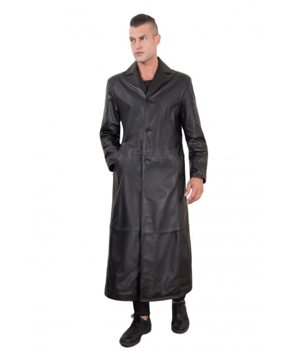 men-s-long-leather-coat-genuine-soft-leather-2-pockets-buttons-closing-black-color-2299-matrix