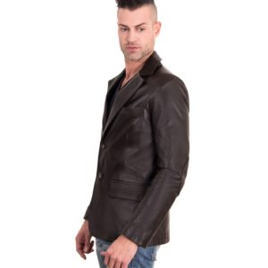 Dark Brown Color Nappa Lamb Leather Jacket