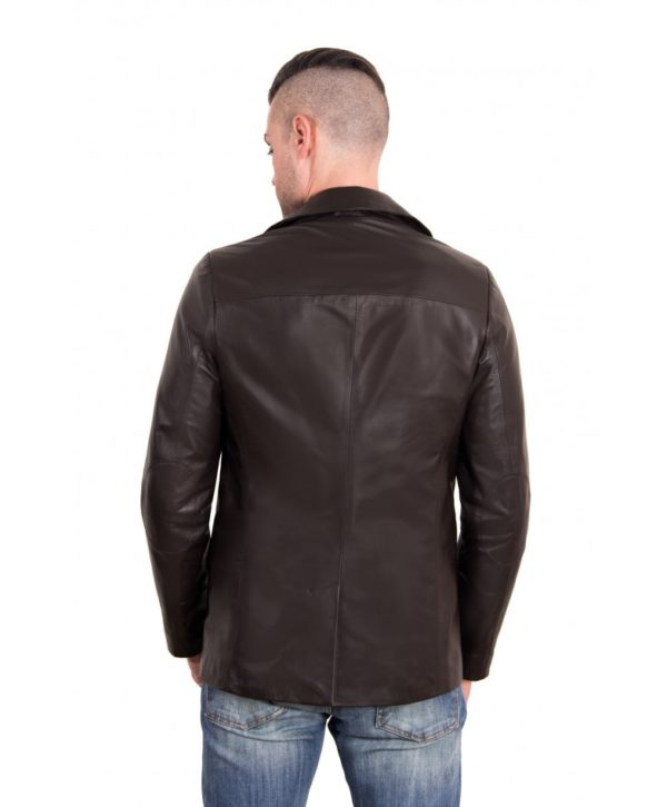Dark Brown Color Nappa Lamb Leather Jacket