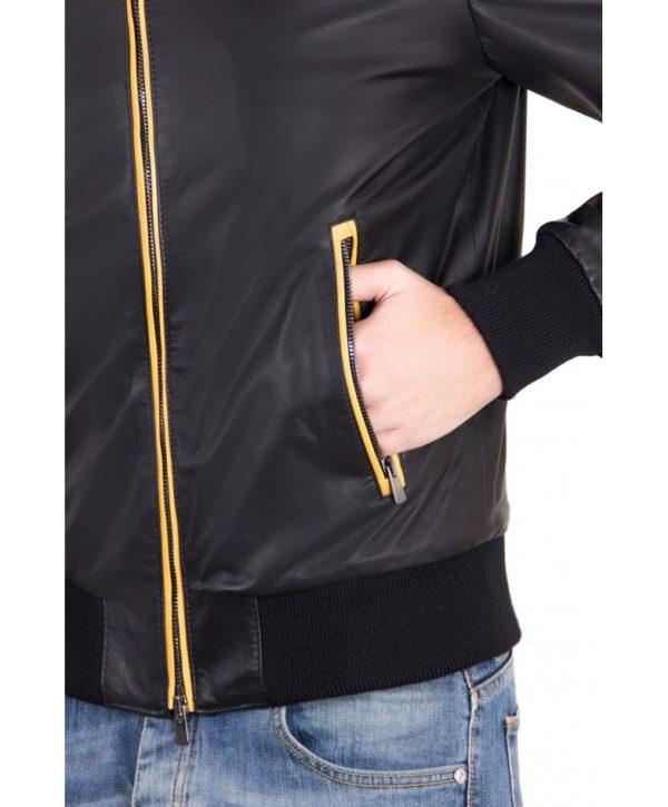 biancolino-black-color-nappa-lamb-leather-hooded-bomber-jacket (3)