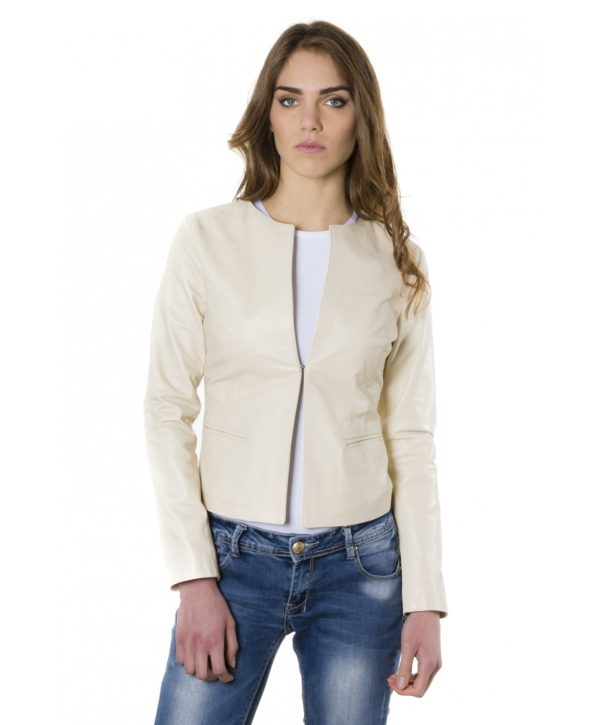 clear-beige-color-lamb-leather-round-neck-jacket