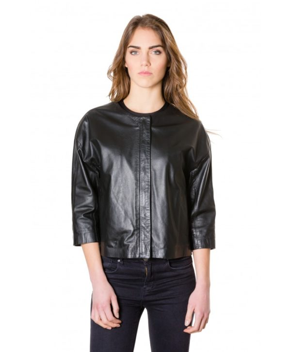 debo-black-colour-woman-lamb-leather-jacket-smooth-effect