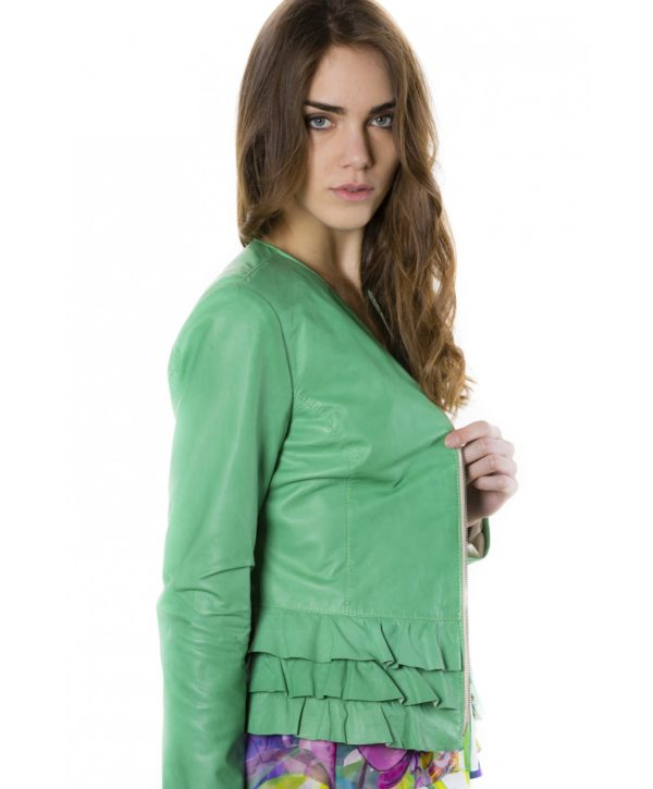 f105bl-green-color-lamb-leather-jacket-with-flounces (2)