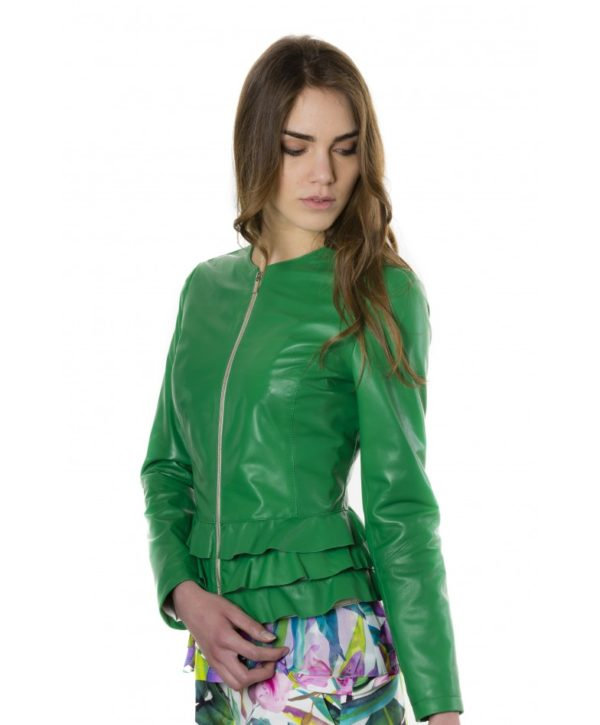 f105bl-green-color-nappa-lamb-leather-jacket-with-flounces (2)