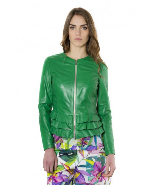 f105bl-green-color-nappa-lamb-leather-jacket-with-flounces