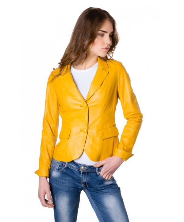 giacca-in-pelle-da-donna-modello-blazer-due-bottoni-colore-giallo (4)