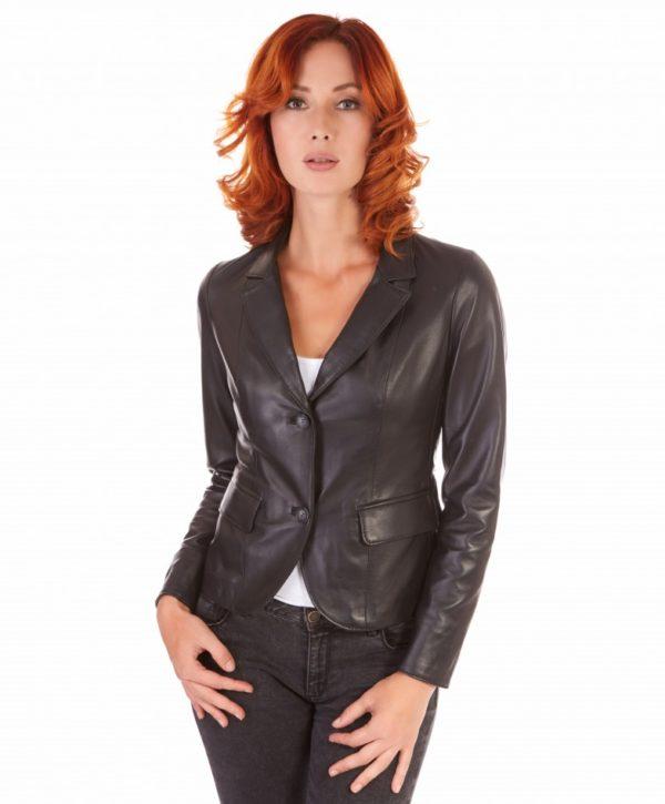 giacca-in-pelle-da-donna-modello-blazer-due-bottoni-colore-nero-blazer