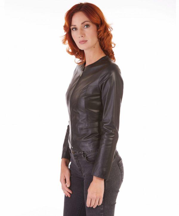 giacca-in-pelle-donna-pelle-con-zip-centrale-e-girocollo-nero-clear