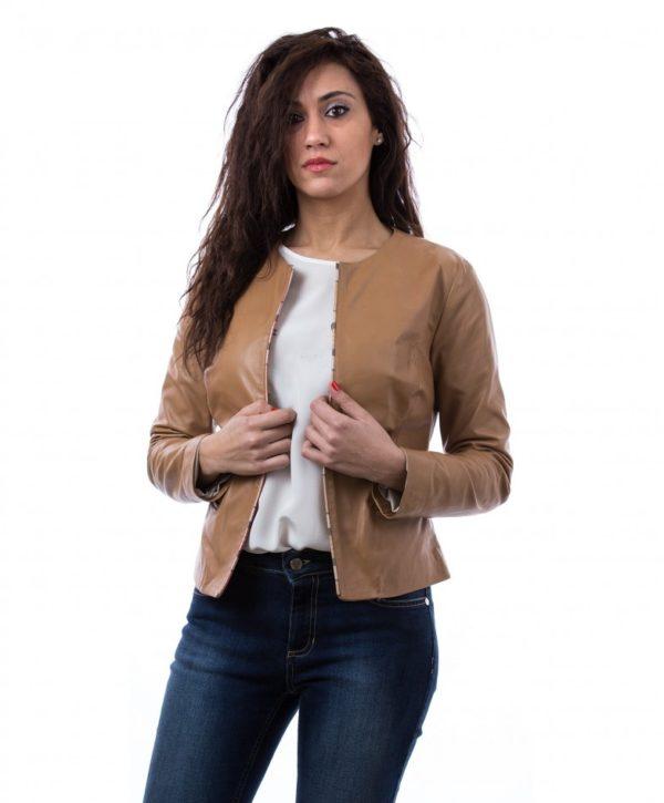 giacchino-corto-in-pelle-donna-girocollo-cuoio-clear-bicolor (1)
