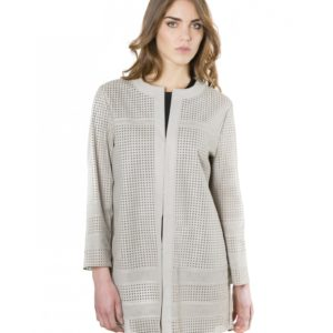 MADOX - Grey Color - Lamb Lasered Leather Jacket