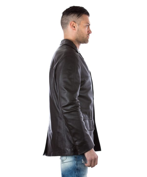 men-s-leather-jacket-genuine-soft-leather-blazer-collar-3-buttons-blue-color-mod-555 (2)