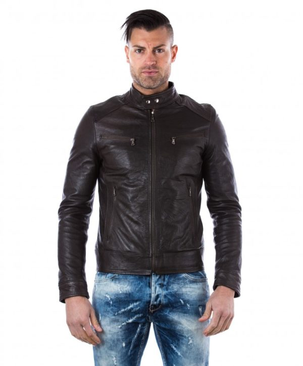 men-s-leather-jacket-genuine-wizened-soft-leather-biker-style-collar-mao-dark-brown-color-hamilton