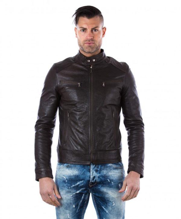 men-s-leather-jacket-genuine-wizened-soft-leather-biker-style-collar-mao-dark-brown-color-hamilton