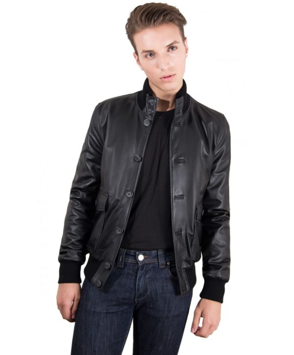 mens-leather-jacket-with-2-front-pockets-and-button-closing-black-color-alex