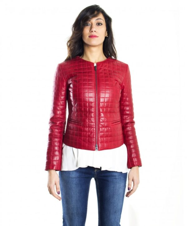 women-s-leather-jacket-genuine-soft-leather-diamonds-fantasy-round-neck-red-color-mod-clear-quadri