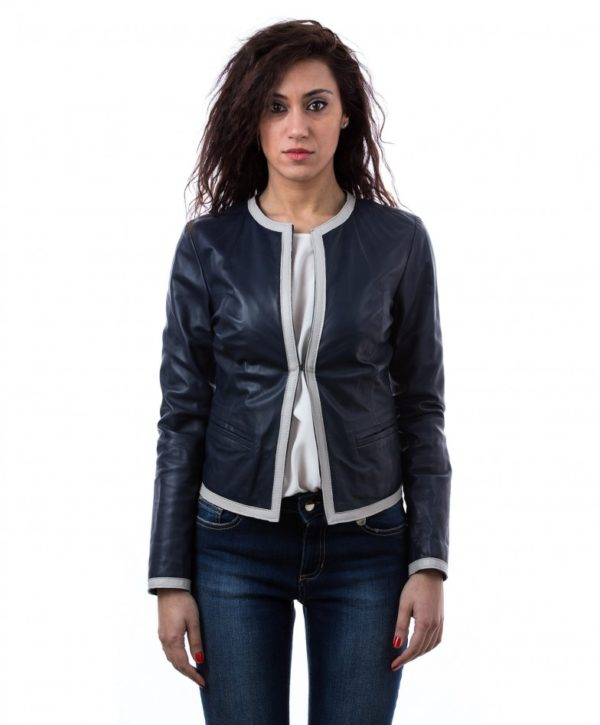 womens-short-leather-jacket-in-genuine-lamb-leather-and-round-neck-blue-clear-bicolor